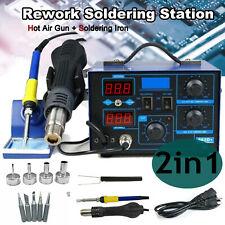 862d 2 In 1 Soldering Rework Stations Smd Hot Air Amp Iron Gun Welder 700w Usa