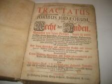 1731 Tractatus de juribus judaeorum IMPORTANT WORK ON RIGHTS OF JEWS OF GERMANY