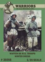 Warriors 1:35 Waffen SS M.G Troops Winter Dress 2 Resin Figures Kit #35056