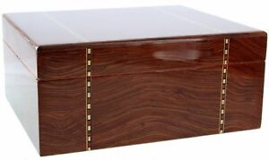 Ashton - Ironwood Marquetry Medium Savoy Cigar Humidor 50CT - HSAIWMM