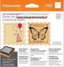 Fiskars Fuse Creativity Design Set 0192 STAMP Die Cut & Letterpress SQUARE