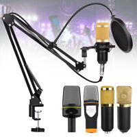 Professional Condenser Microphone Shock Mount Kit Audio Studio Recording Podcast