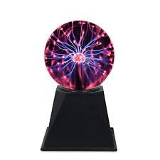 "4"" Inch Plasma Ball Sound Activated Party Light Tesla Halloween Decor AC 11-120V"
