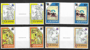 GUYANA SC# 302-5 MNH STAMPS GUTTER PAIRS