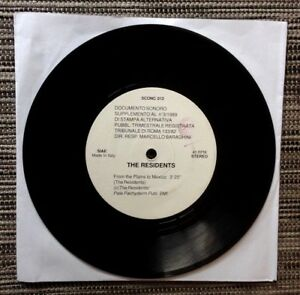 """THE RESIDENTS / FROM THE PLAINS TO MEXICO - 7"""" (Italy 1989 - single sided) RARE"""