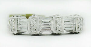 GENUINE 0.75 Cts DIAMONDS RING 14k WHITE GOLD * New With Tag * FREE CERTIFICATE