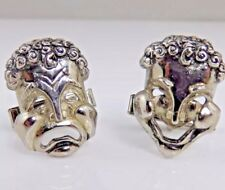 Opera Face Comedy Tragedy. Vintage Modernist Sterling Cufflinks