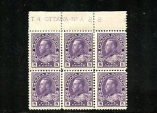 LOT 50721 MINT 112 PLATE BLOCK    KING GEORGE V ADMIRAL ISSUE