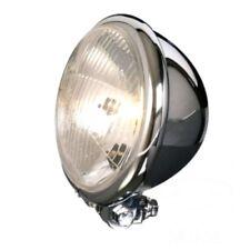 "Headlight 5.75"" H4 Chrome Bates Style Ribbed Lens"