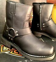Harley-Davidson Motorcycle Boots El Paso Riding Shoes Square Toe Shoes D94422