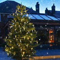 20m Plug in Outdoor Adjustable Christmas Tree LED Candle Fairy Lights | 54 Piece