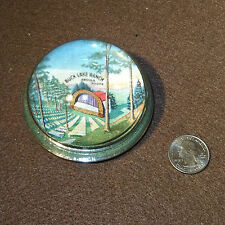 Buck Lake Ranch Angola Indiana IN Paperweight 1950s Rare