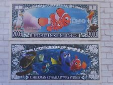 FINDING NEMO Pixar Fish Film ~ $1,000,000 One Million Dollar Bill: United States