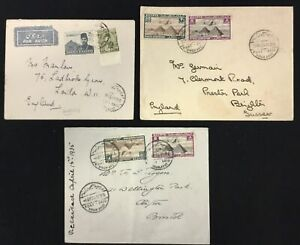 EGYPT 1934/46 -3 x COVER -( SIMON ARZT)-TO ENGLAND --F/VF
