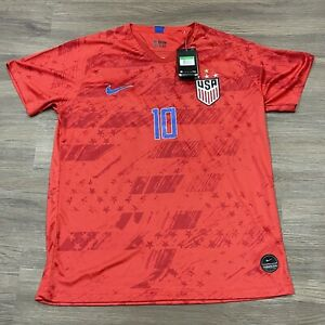 Nike Dri Fit Christian Pulisic USA Soccer Jersey USMT Red NEW Men's XL