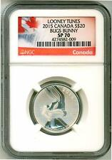 2015 S$20 Canada Looney Tunes Bugs Bunny NGC SP70