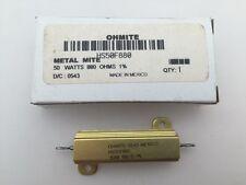 HS50F880 Ohmite, 50 Watt 880 Ohm 1%, Wirewound Resistor, Chassis Mount