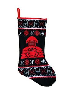 19 In Star Wars Knitted Black Red Christmas Stocking