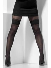 Black Polka Dot Hold up LOOK Tights Womens Fancy Dress Accessory Smiffys 44444