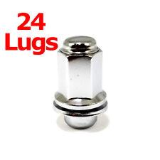 24x Excalibur 98-0002 Lug Nuts 12x1.50 Chrome Mag w/Washers for Lexus