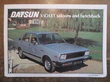 DATSUN VIOLET gamma ORIG 1980 UK inchiostri SALES BROCHURE-NISSAN
