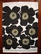 NEW MARIMEKKO PIENI UNIKKO BLACK KITCHEN TEA TOWEL 1965 VTG DESGN BY MAIJA ISOLA