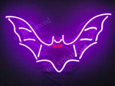 "Bat Neon Sign Acrylic Gift Light Lamp Bar Wall Room 14""x6"""
