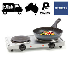 Stainless Steel Double Hot Plate Cooktop Electric Portable Camping Hotplate Cook
