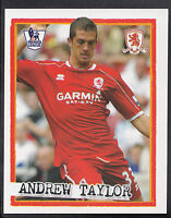 Merlin Football Sticker - Kick Off 2007-08 - No 146 - Middlesbrough - Taylor