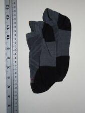 SMARTWOOL Socks Men's Medium 6-8.5 Low Ankle Gray Black Lt Wt Thread Irreg