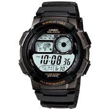 Casio AE-1000W Youth Series Black Red Orange Gold 100m Men's Digital Sport Watch