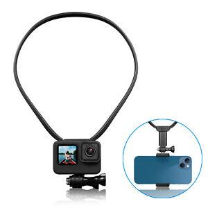 Neck Phone Stand Holder Wearable Mount Bracket For Insta360/DJI/GoPro10/9/8