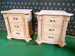 Pair of OAK Wood Tudor Mansion Jacobean  Bedside tables . nightstands .. British