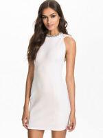 New Ladies River Island Size 10 - 16 White Lattice Back Jewel Neck Bodycon Dress