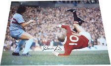 Denis Law Manchester Utd SIGNED AUTOGRAPH 16x12 Photo OHK vs West Ham AFTAL UACC