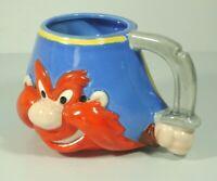 Yosemite Sam Coffee Mug Cup Ceramic 3D Design Figural 1991 Applause Looney Tunes