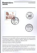 ITALIA 2002 SPEZZANO ALBANESE  BOLLETTINO COMPLETO DI FRANCOBOLLI FDC