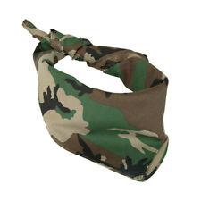 Capa De Rosto bandana Militar cabeça de Algodão estampa de camuflagem envoltório Máscara Facial
