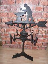Cast Iron Blacksmith weather-vane ridge mount