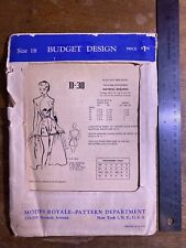 1960s Vintage Sewing Pattern Modes Royal D-30 Playsuit And Skirt Sz 18 Volup