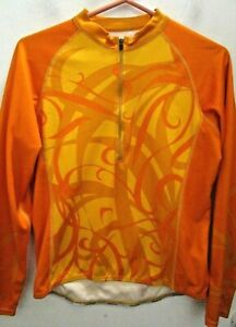 CANNONDALE men's cycling jersey awesome ORANGE 3/4zip size S Small