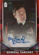 2018 Topps Doctor Who Signature Michael Brandon as General Sanchez Autograph /10