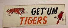 Vintage 1968 World Series Bumper Sticker Detroit Tigers/St Louis Cardinals