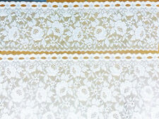 Beautiful Cafe  Lace Set-Roses-Donna by Nettex -Cafe Curtain -WHITE -Popular