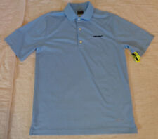Nwot Greg Norman Ml75 Golf Polo,Trump,Small Men.S/S Shirt,Blue Striped,Excellent