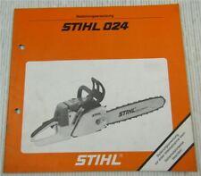 Stihl 024 AV Motorsäge Bedienungsanleitung Kettensäge Wartung