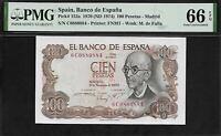 Spain 100 Pesetas 1970 PMG 66 EPQ UNC P#152a