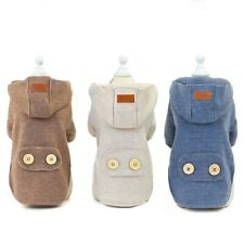 Cute korea Dog Hoodies Winter Pet Dog Clothes For Dogs Coat Jacket Cotton