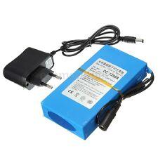 Bateria Li-Ion Recargable Para Tiras Led 9800mAh 12V Larga Duracion Enchufe EU