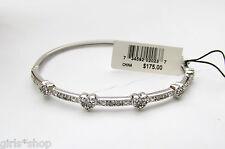 1/4 Carat Diamond Sterling Silver Heart Bangle Bracelet from Macy's NWT $175